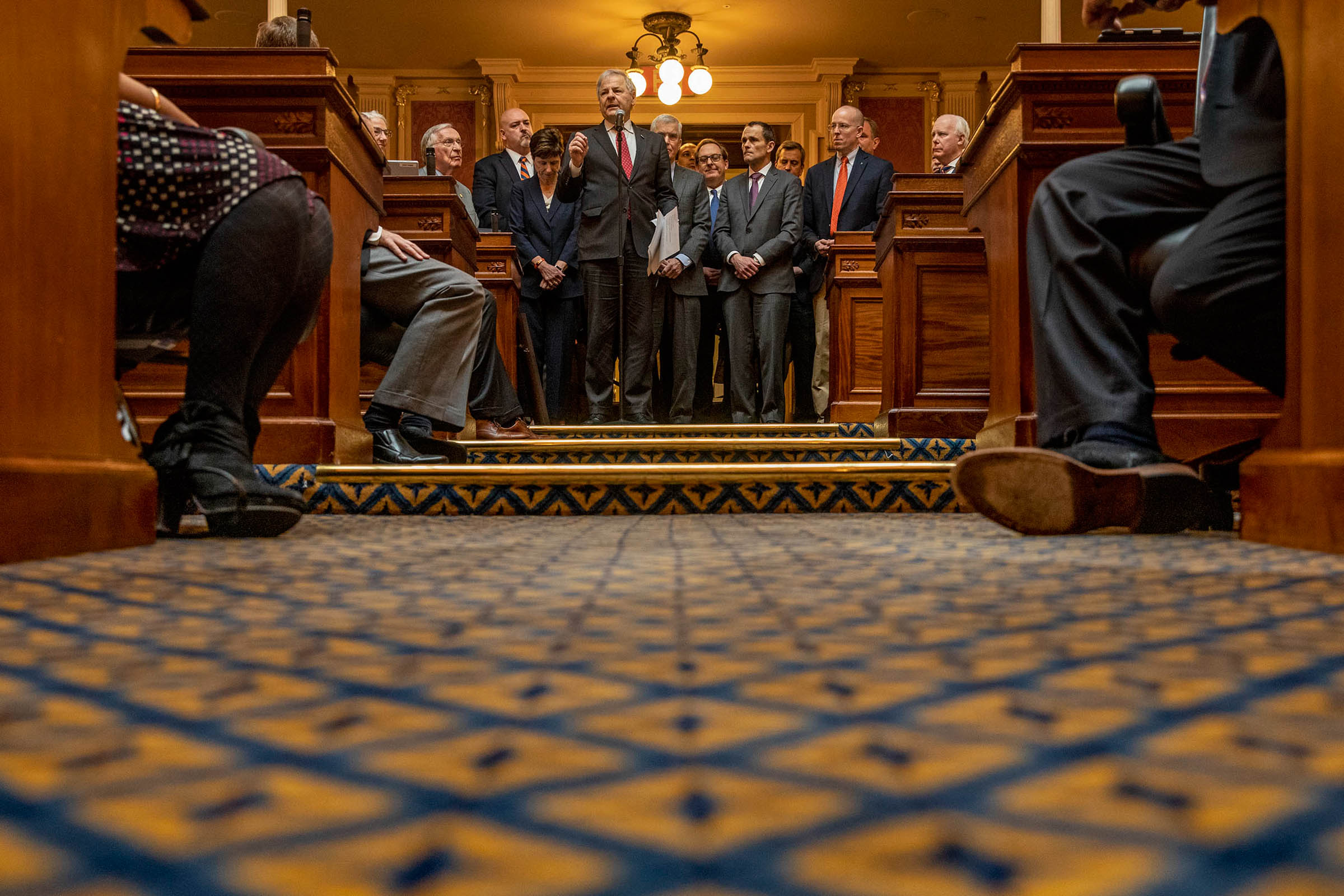 Resolutions, ceremonies and presentations are all part of the day-to-day for any photographer. Often, we try to find something interesting in the mundane. When state Del. David Toscano presented a resolution marking UVA's bicentennial on the State House f