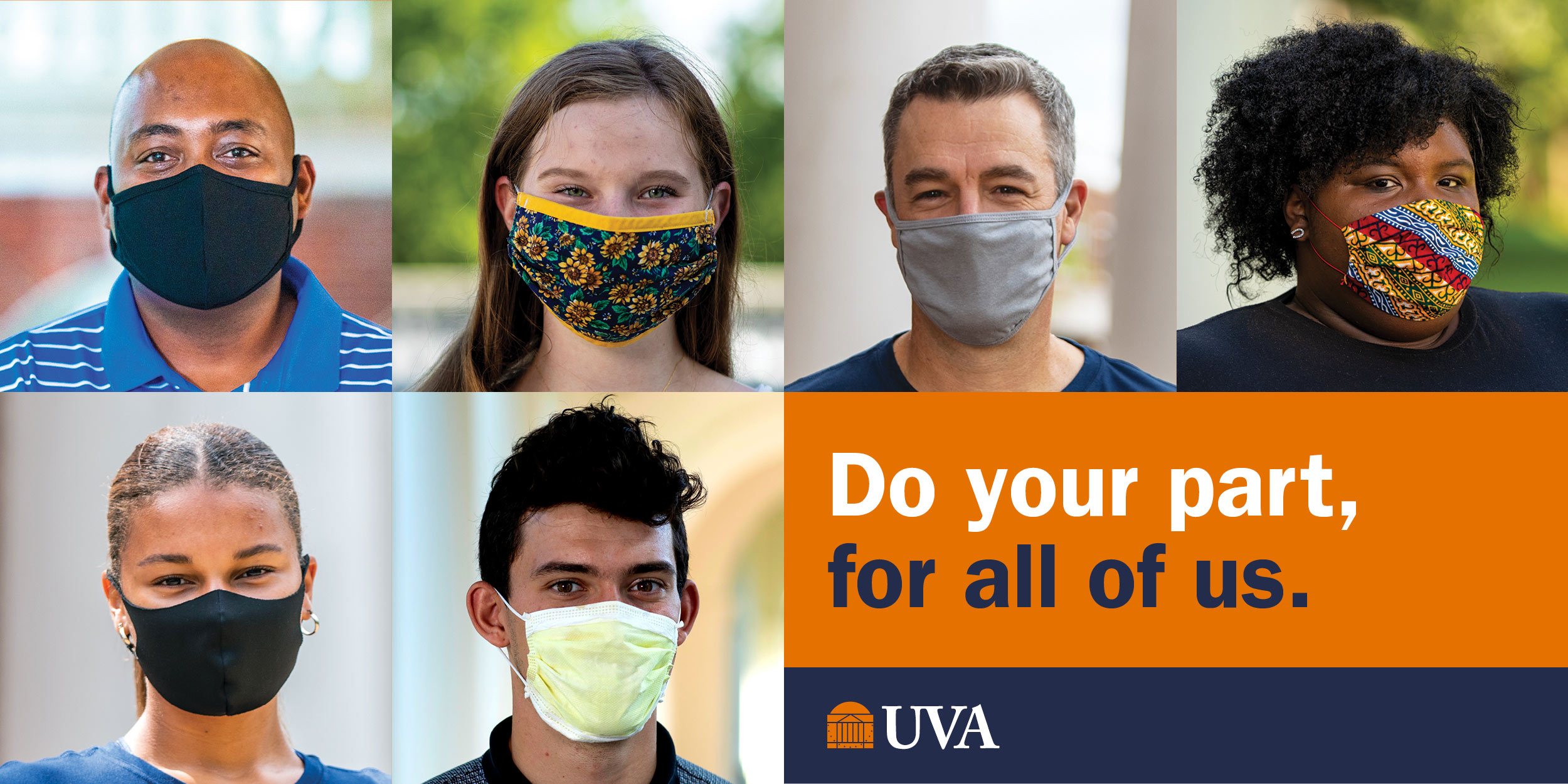 Do your part, for all of us. UVA.