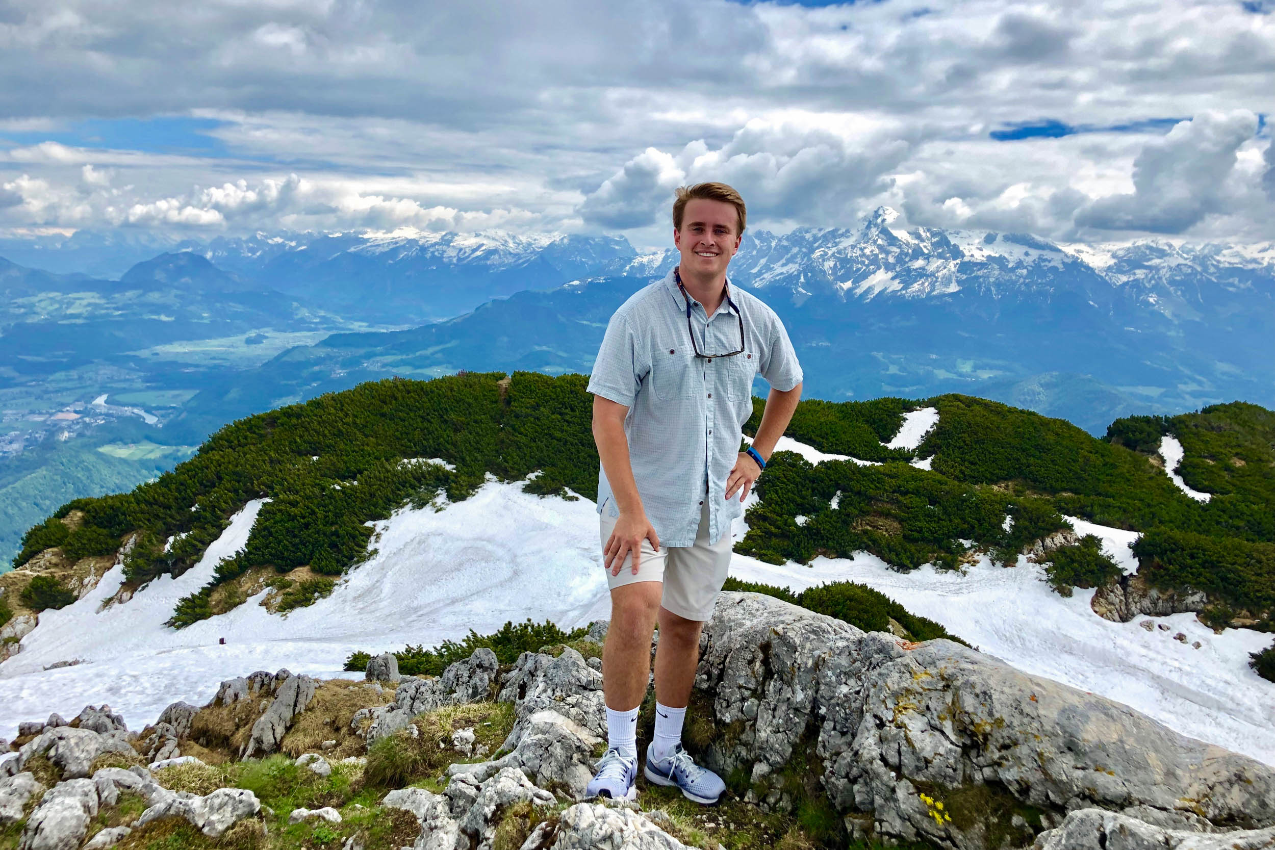Lee Dudley on a day hike in Berchtesgaden, Germany while on his extracurricular trip to Salzburg, Austria.