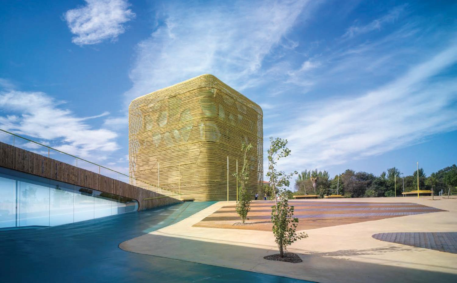 Architecture professors Luis Pancorbo and Inés Martín Robles won the Architecture MasterPrize for their design of Spain's Vegas Altas Congress Center.