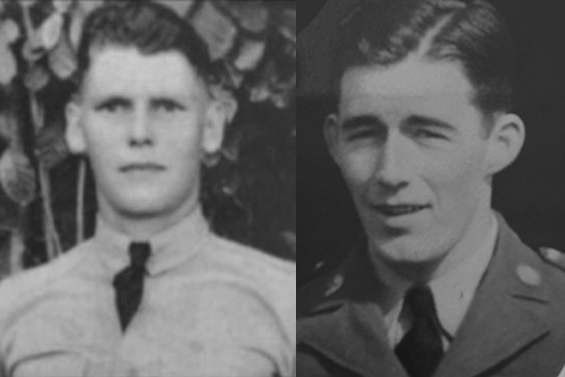 Emmet Edloe Morris, left, and James Merritt Barksdale hailed from Albemarle County and were both killed during the Pearl Harbor attacks.