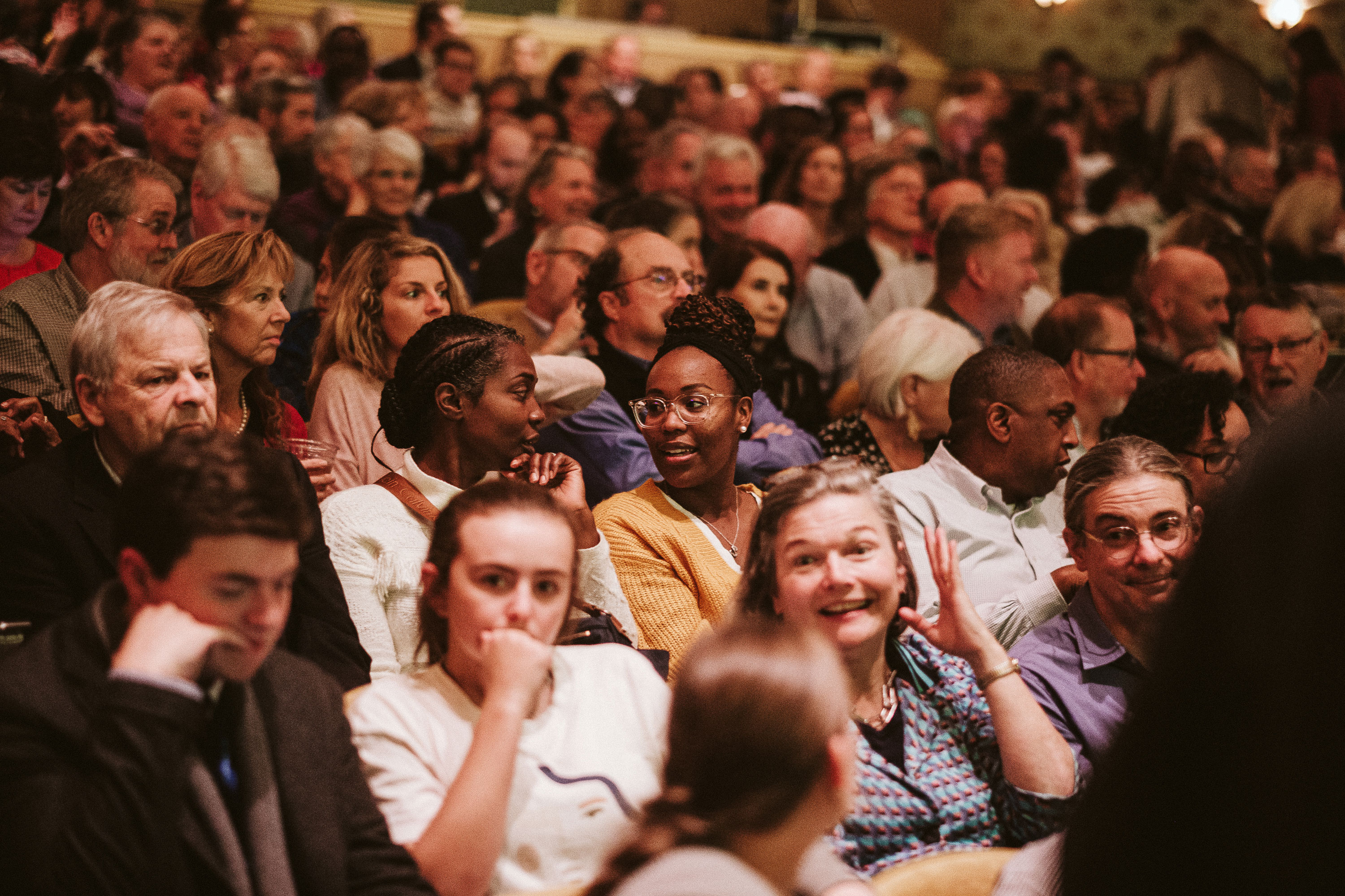 A large crowd was on hand Wednesday night to kick off the festival. (Photo by Eze Amos)