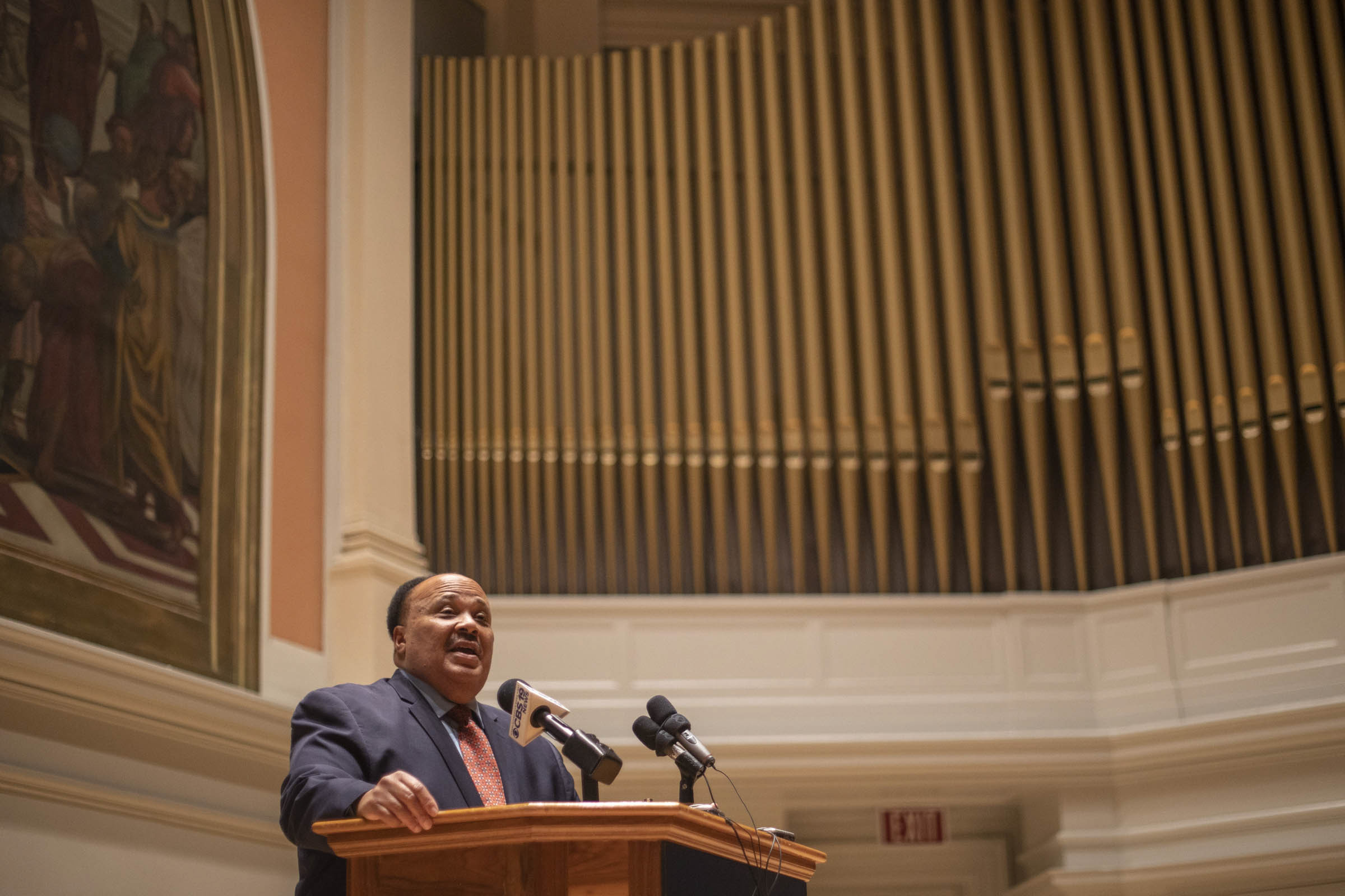 Martin Luther King III spoke in Old Cabell Hall – the same site of his father's historic speech at UVA.