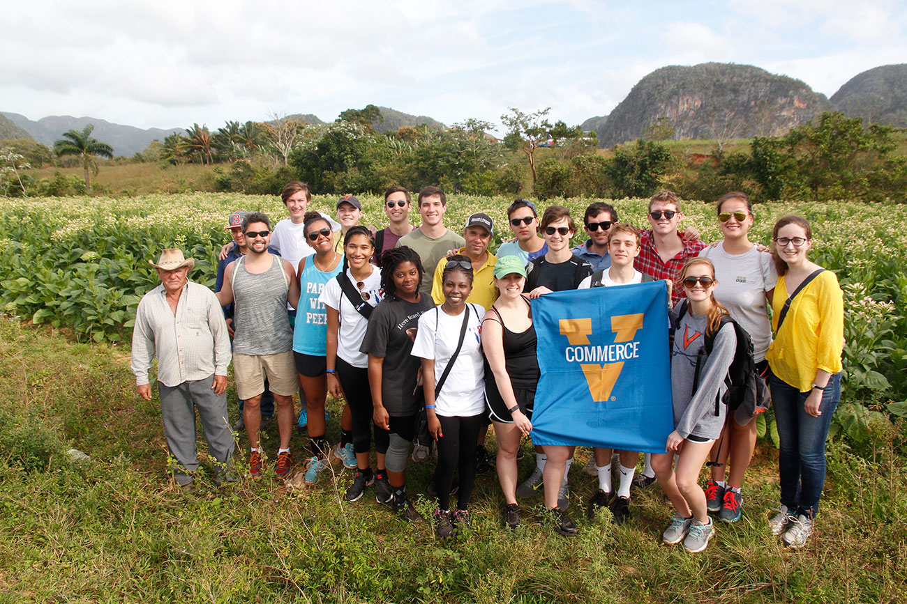 Students met with Cuban farmers and toured some of the country's organic farms. (Photo courtesy of Mark White)