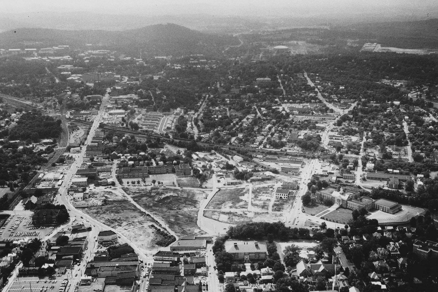The African-American business district known as Vinegar Hill was demolished in the early '60s under urban renewal.