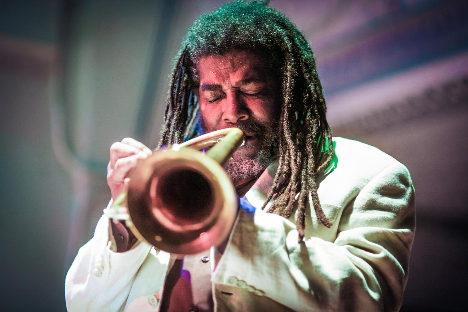Composer and creative musician Wadada Leo Smith will present his visual artwork and give a concert with the Golden Quintet. (Photo by Michael Jackson).
