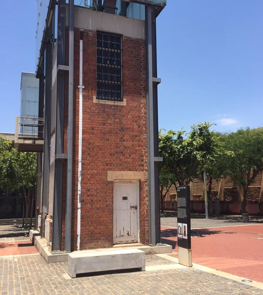 The South Africa Constitutional Court is built on a former prison site that housed Nelson Mandela and other members of the African National Congress. Some of the waiting cells used to hold prisoners have been left standing as a reminder of their past.