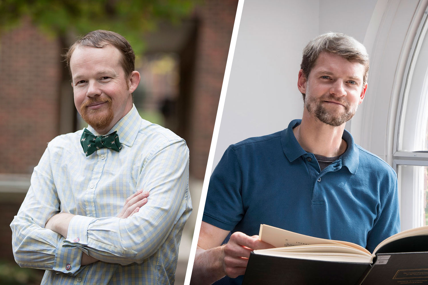 Waitman Beorn, left, is a lecturer in UVA's Corcoran Department of History and a consultant to the U.S. Holocaust Memorial Museum. Drew Macqueen is a GIS specialist in UVA's Scholars' Lab.