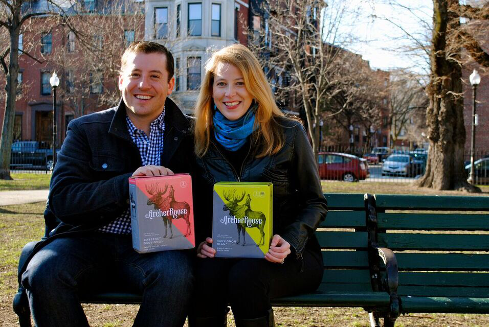 Darden alumnus David Waldman and wife Marian Leitner launched their boxed wine company, Archer Roose, this spring.