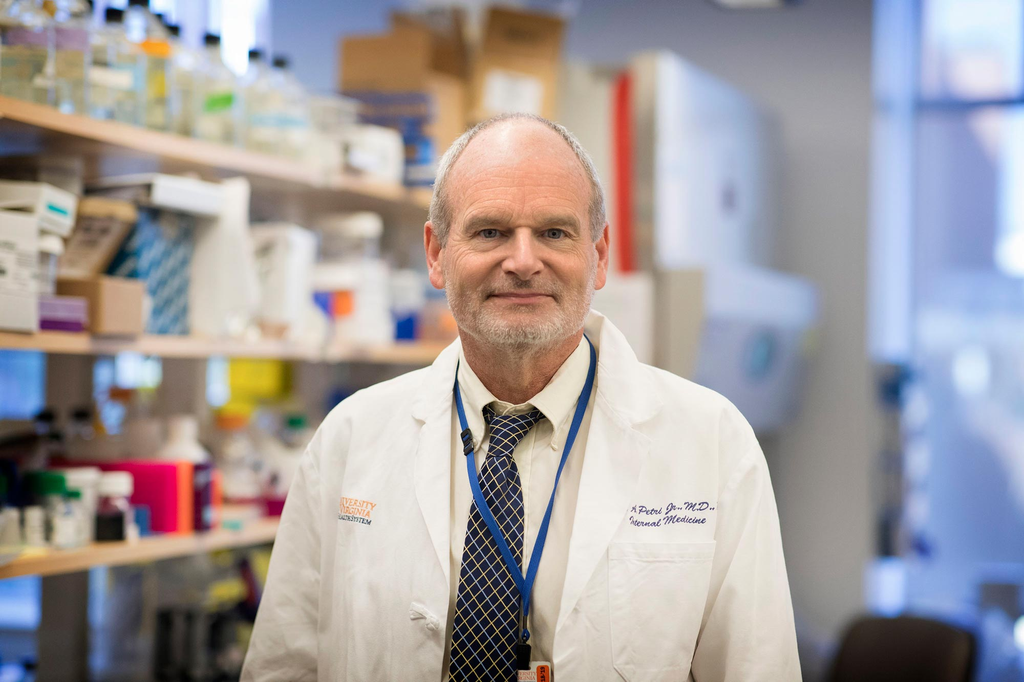 Dr. William Petri is a chaired professor of infectious diseases and international health and vice chair for research in the Department of Medicine. (Photo by Dan Addison, University Communications)