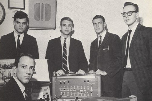 Some of the 1966 WTJU staff.