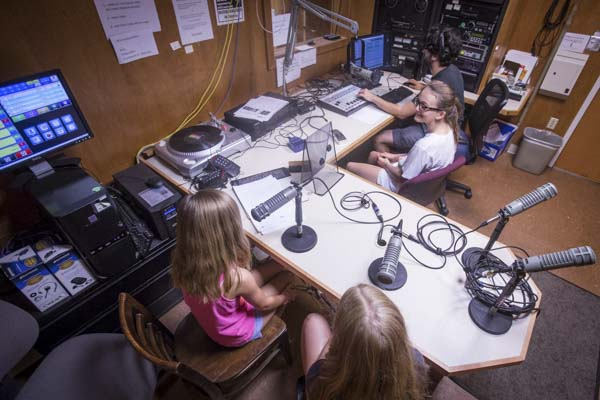 Middle- and high-school students can come to WTJU's studios for weeklong summer camp sessions where they produce and record their own radio show.