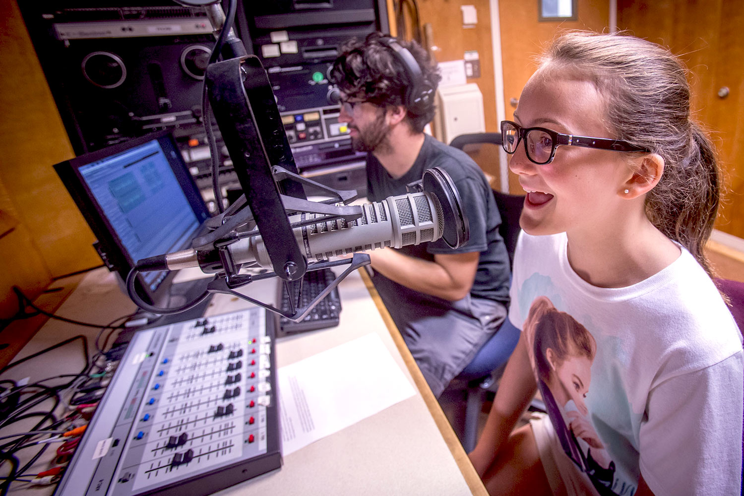 The camp gave students the opportunity to produce and record their own radio shows.