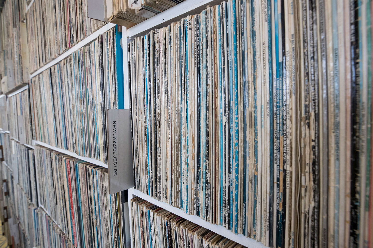 The station embraces all sorts of technology, including more than 40,000 vinyl records.