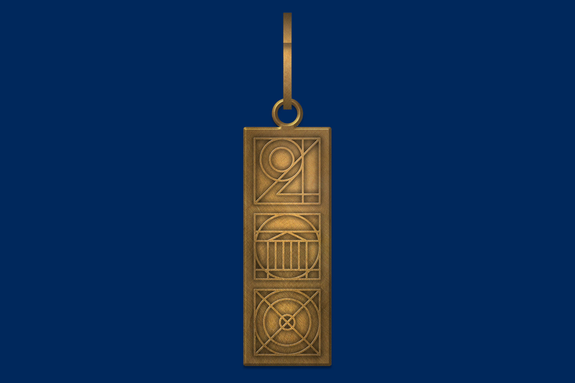 Each graduation gown will feature the commemorative zipper pull shown above. (Images courtesy of University of Virginia Office of Communications.)
